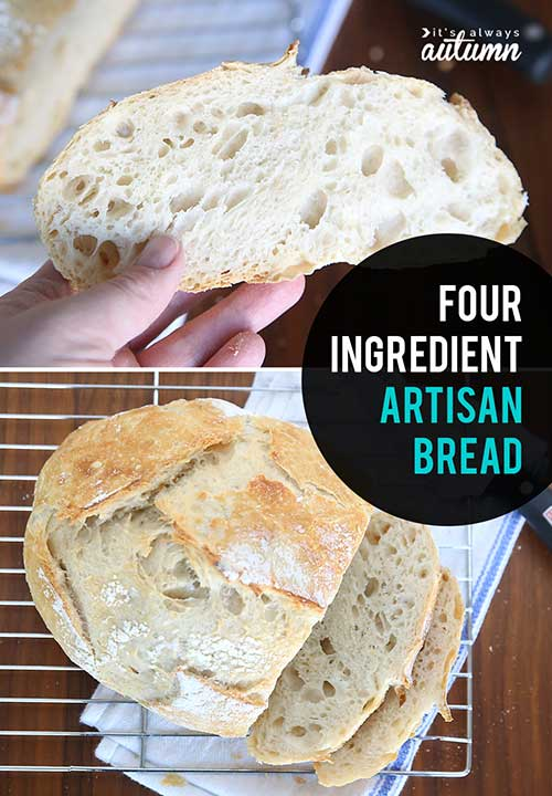 Crazy Easy Homemade 4 Ingredient Artisan Bread Recipe