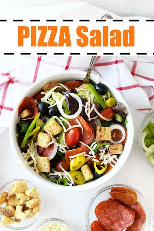 Pizza Salad Recipe Best Crafts And Recipes